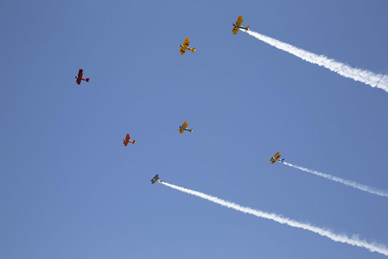 Fauquier Hospital staff honored Friday with a 10-biplane flyover