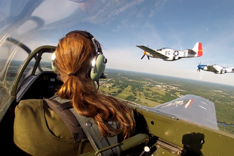Warbird Members Participated in a 4th of July Flyover