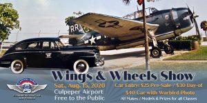 Culpeper Wings & Wheels Show 2020