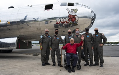 101-YEAR-OLD WWII B–29 PILOT HONORED WITH SUPERFORTRESS FLIGHT