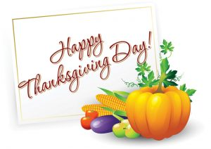 Happy Thanksgiving to you and your family.
