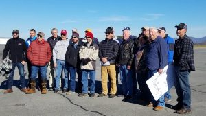 THE PILOTS INVOLVED IN THE WREATHS ACROSS AMERICA FLIGHT IN NORTH GEORGIA