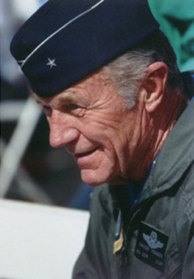 Chuck Yeager continued to act as a flight consultant for the air force until his last flight on October 14, 1997. (Image credit: Air Force Test Center History Office)