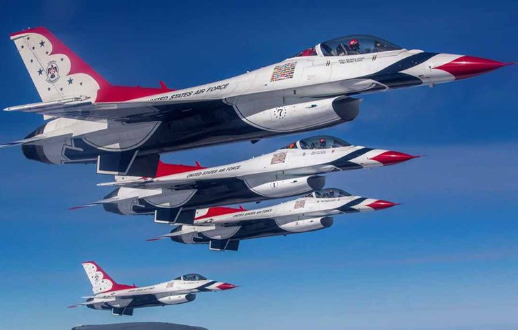 Air Force Jet Teams Announce 2021 Airshow Schedules