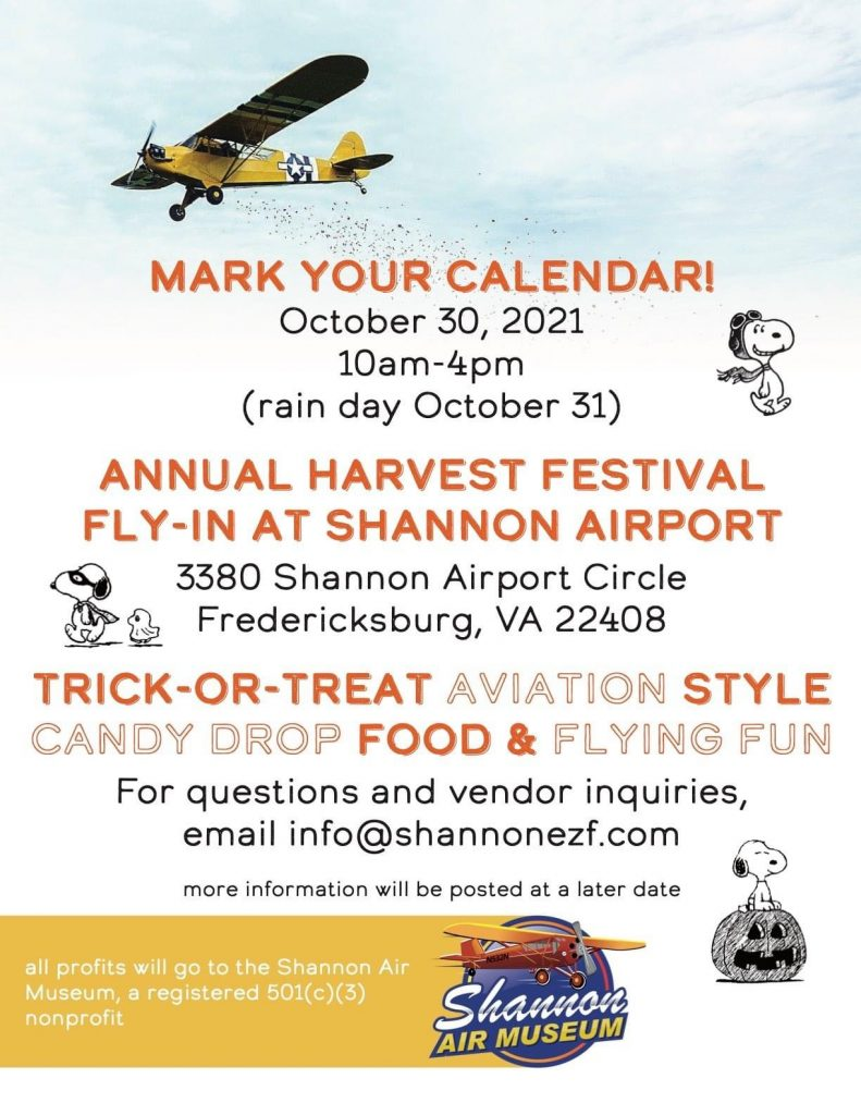 Join us at Shannon Airport for our 7th Annual Harvest Festival Fly-In 2021