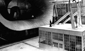 Sleeker and Faster: The Impact of the Full Scale Wind Tunnel. Photo credit: National Air and Space Museum